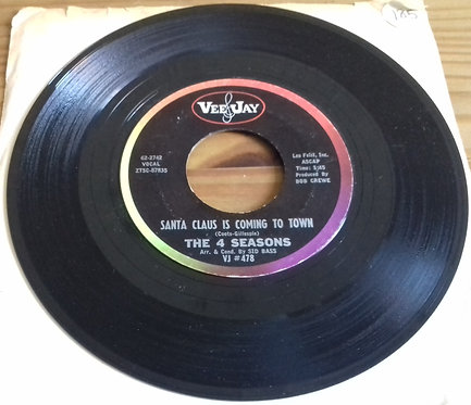 """The 4 Seasons* - Santa Claus Is Coming To Town (7"""", Single) (Vee Jay Records)"""