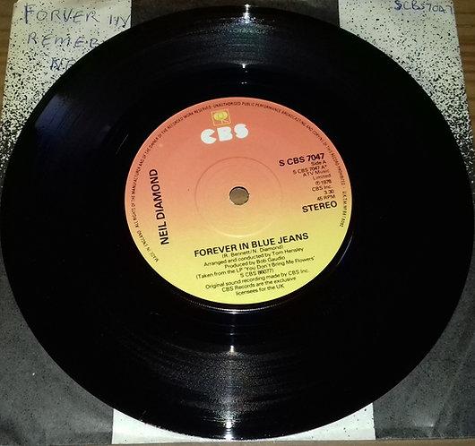 "Neil Diamond - Forever In Blue Jeans (7"", Single) (CBS)"