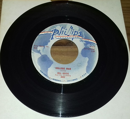 """Bill Justis And His Orchestra* - College Man / The Stranger (7"""", Single, Mono)"""