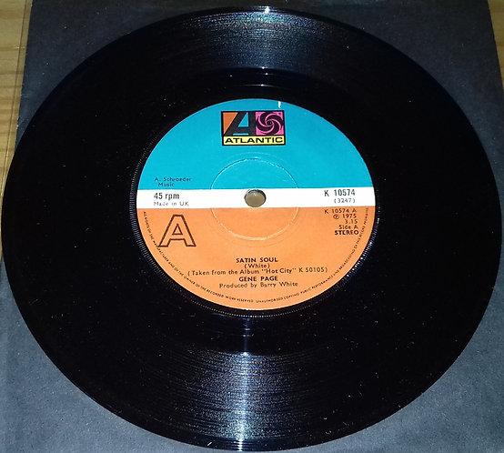 "Gene Page - Satin Soul (7"", Single) (Atlantic)"
