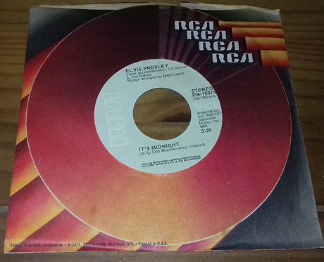 "Elvis Presley - It's Midnight / Promised Land (7"", Single, Ind) (RCA Victor)"