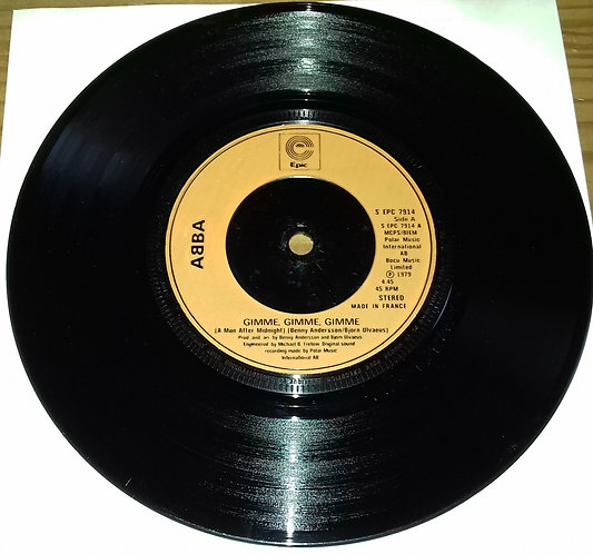 """ABBA - Gimme, Gimme, Gimme (A Man After Midnight) (7"""", Single, Inj) (Epic)"""