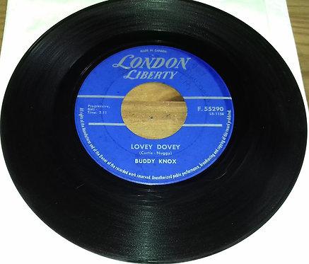 """Buddy Knox - Lovey Dovey / I Got You (7"""", Single) (London Liberty)"""