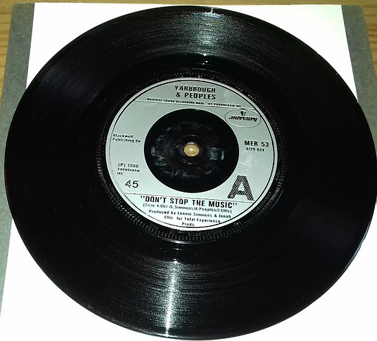 """Yarbrough & Peoples - Don't Stop The Music (7"""", Single, Sil) (Mercury, Mercury)"""