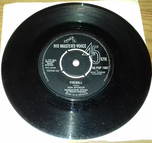 "Don Spencer - Fireball (7"", Single) (His Master's Voice)"