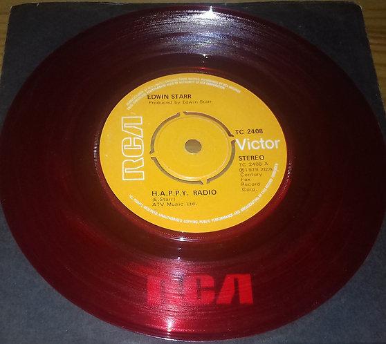"Edwin Starr - H.A.P.P.Y. Radio (7"", Single, Red) (RCA Victor)"