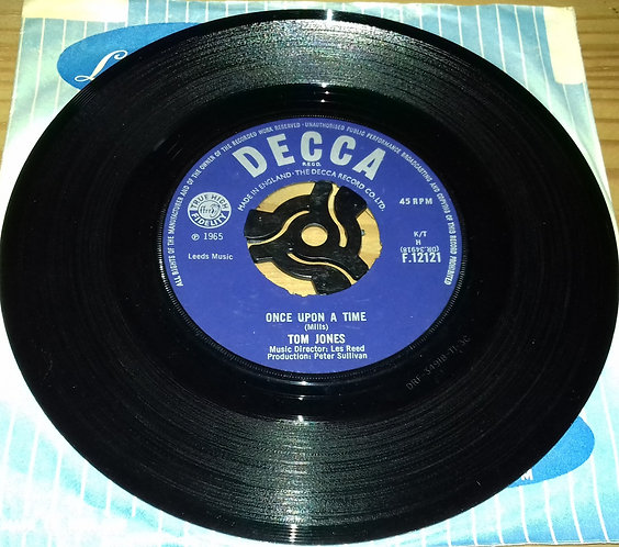 """Tom Jones - Once Upon A Time / I Tell The Sea (7"""") (Decca)"""