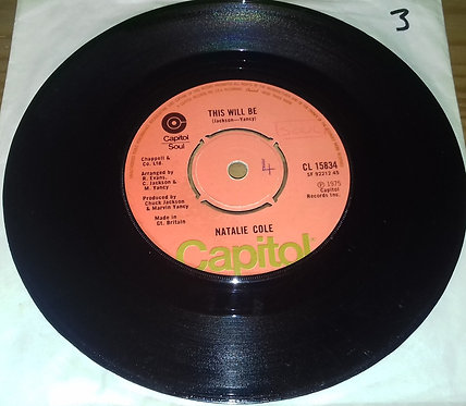 """Natalie Cole - This Will Be (7"""", Single) (Capitol Records)"""