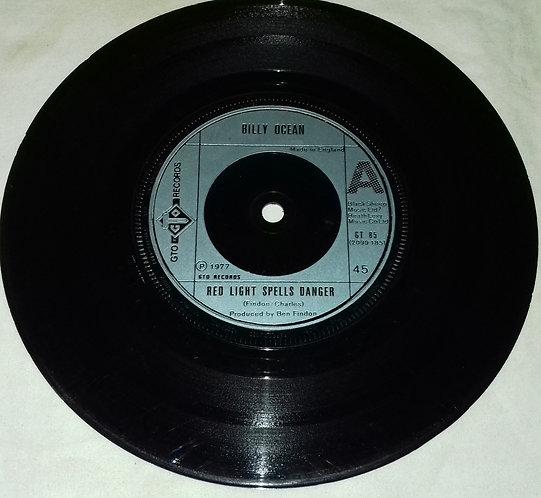 """Billy Ocean - Red Light Spells Danger (7"""", Single) (GTO, GTO)"""