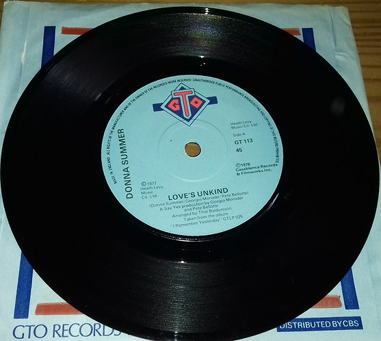 "Donna Summer - Love's Unkind (7"", Single, Pap) (GTO)"