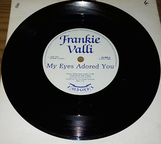 """Frankie Valli - My Eyes Adored You / You're Ready Now (7"""", Single, RE) (Old Gold"""