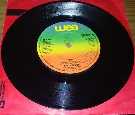 "Carly Simon - Why (7"", Single) (WEA, WEA, Mirage (2), Mirage (2))"