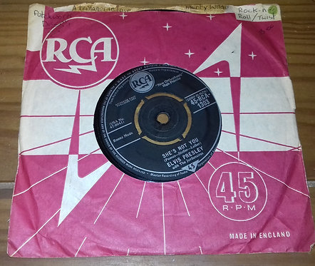 "Elvis Presley With The Jordanaires - She's Not You (7"", Single) (RCA)"