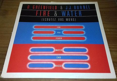 D. Greenfield* & J.J. Burnel - Fire & Water (Ecoutez Vos Murs) (LP, Album) (Epi