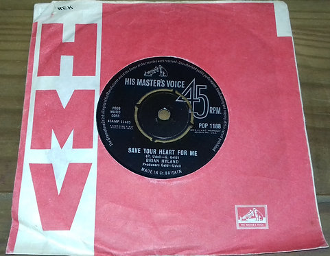 """Brian Hyland - Save Your Heart For Me (7"""", Single) (His Master's Voice)"""