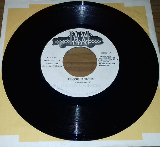 "Carlton Livingston / Sly & Robbie - Those Tricks (7"", Single) (Taxi)"