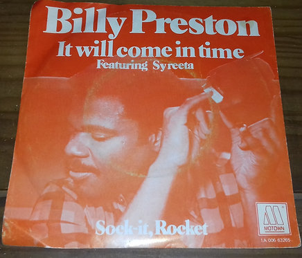 """Billy Preston Featuring Syreeta - It Will Come In Time (7"""", Single) (Motown)"""