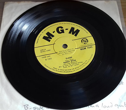 """Barry Ryan - Eloise (7"""", Single, Sol) (MGM Records)"""