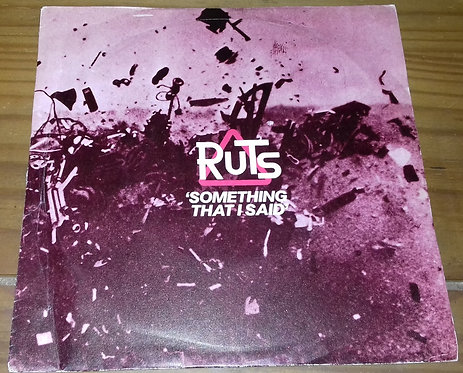 "Ruts* - Something That I Said (7"", Single) (Virgin)"