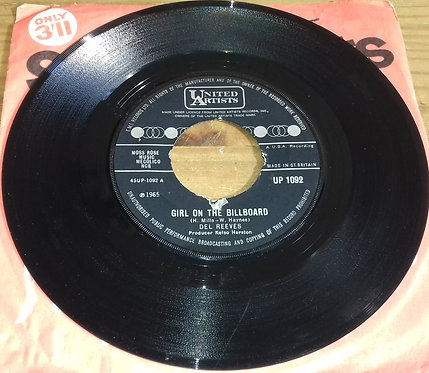 """Del Reeves - Girl On The Billboard (7"""") (United Artists Records)"""