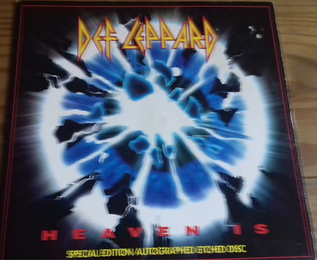 "Def Leppard - Heaven Is (7"", S/Sided, Single, Etch, S/Edition, Pap) (Bludgeon R"