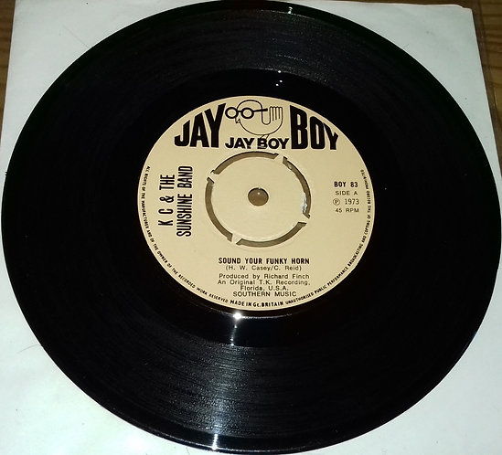 """K C & The Sunshine Band* - Sound Your Funky Horn (7"""", Kno) (Jay Boy)"""