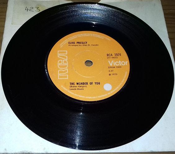 "Elvis Presley - The Wonder Of You (7"", Single, Sol) (RCA Victor)"