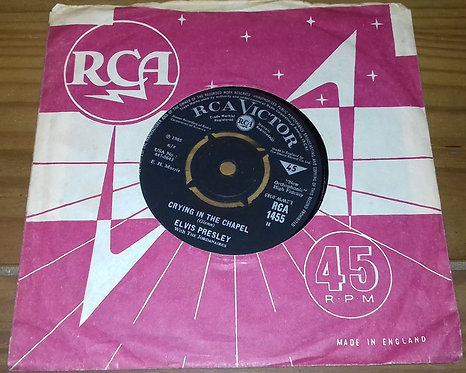 """Elvis Presley With The Jordanaires - Crying In The Chapel (7"""", Single) (RCA Vic"""