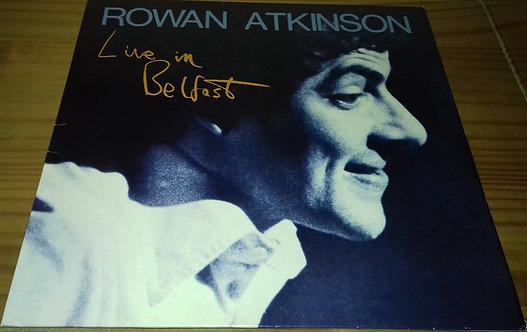 Rowan Atkinson - Live In Belfast (LP, Album) (Arista)
