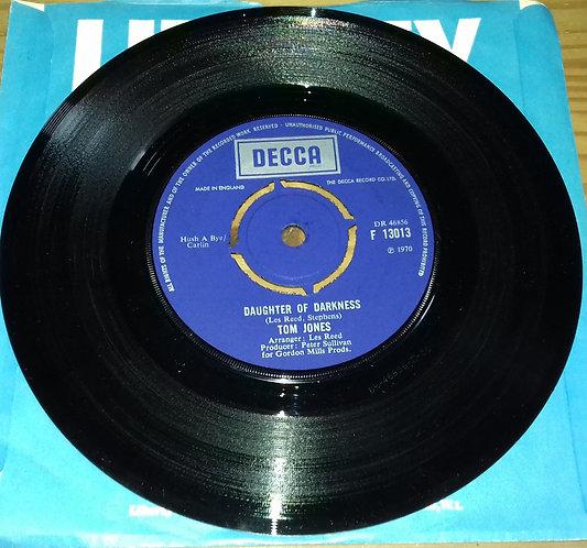 "Tom Jones - Daughter Of Darkness / Tupelo Mississippi Flash (7"", Single) (Decca"