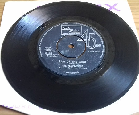 """The Temptations - Law Of The Land / Funky Music Sho Nuff Turns Me On (7"""", Single"""