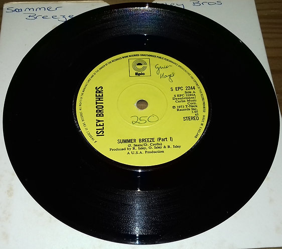 """Isley Brothers* - Summer Breeze (Part I) (7"""", Single, Sol) (Epic)"""