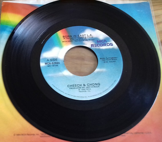 "Cheech & Chong - Born In East L.A. (7"", Single) (MCA Records)"