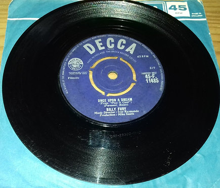"""Billy Fury - Once Upon A Dream (7"""", Single) (Decca)"""
