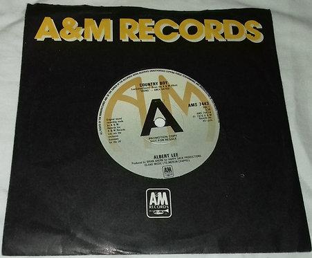 "Albert Lee - Country Boy (7"", Single, Promo) (A&M Records)"