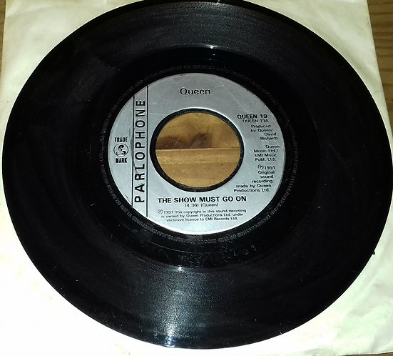 """Queen - The Show Must Go On (7"""", Single, Jukebox) (Parlophone)"""