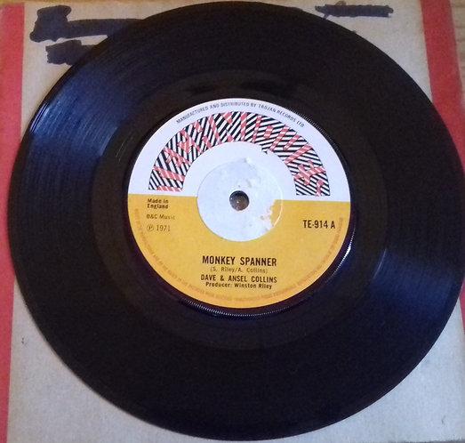 "Dave & Ansel Collins - Monkey Spanner (7"", Single, Sol) (Techniques)"