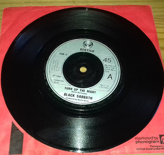 "Black Sabbath - Turn Up The Night (7"", Single) (Vertigo)"
