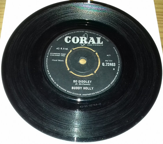 """Buddy Holly - Bo Diddley (7"""", Single) (Coral)"""