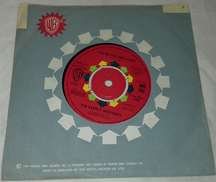 """Everly Brothers - You're The One I Love (7"""") (Warner Bros. Records)"""
