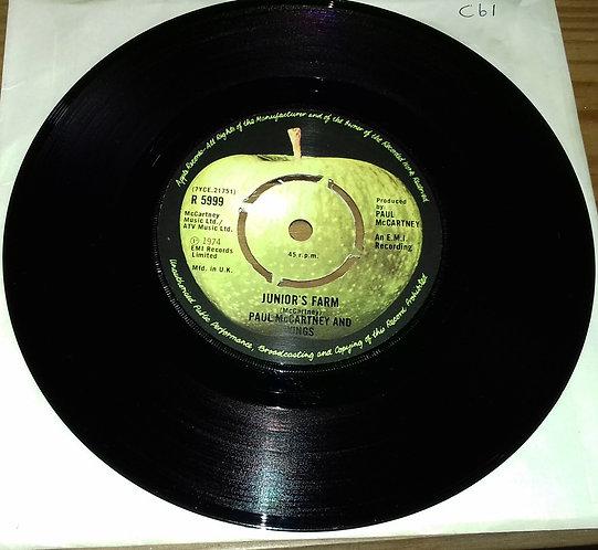 "Paul McCartney And Wings* - Junior's Farm (7"", Single, Pus) (Apple Records)"
