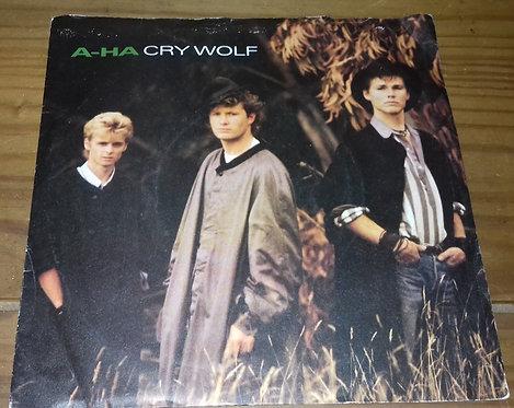 "a-ha - Cry Wolf (7"", Single, Pap) (Warner Bros. Records, Warner Bros. Records, W"