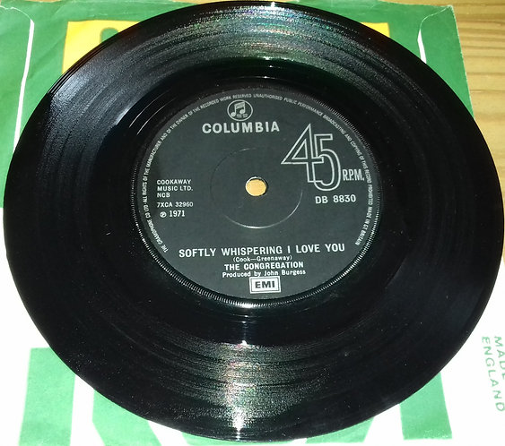 """The Congregation* - Softly Whispering I Love You (7"""", Single, Sol) (Columbia)"""