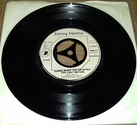 """Jimmy Helms - Gonna Make You An Offer You Can't Refuse (7"""", Bei) (Cube Records)"""