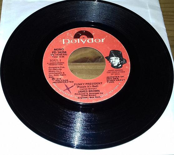 "James Brown - Funky President (People It's Bad) (7"", Single, Mono, Styrene, She)"