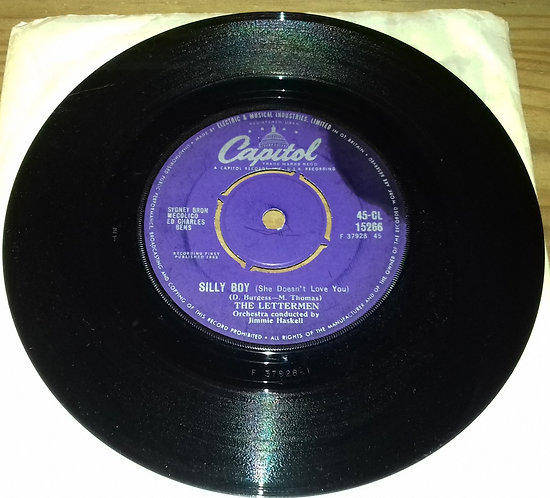 """The Lettermen - Silly Boy (She Doesn't Love You) / I Told The Stars (7"""", Single)"""