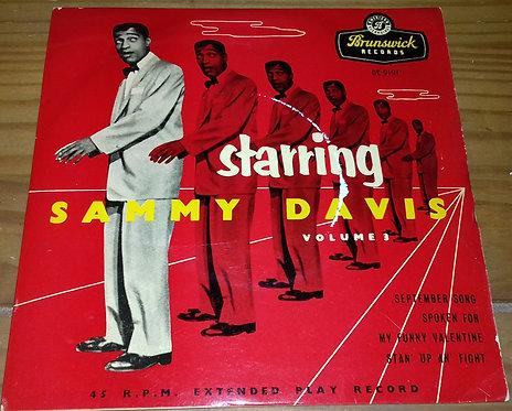 "Sammy Davis Jr. - Starring Sammy Davis Volume 3 (7"", EP) (Brunswick)"