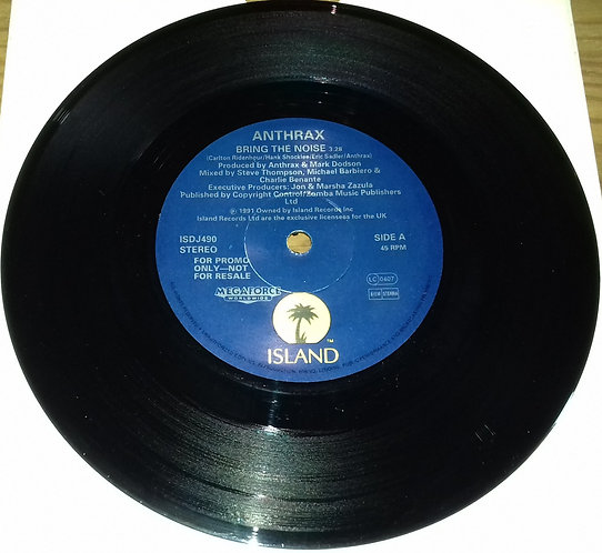 """Anthrax - Bring The Noise (7"""", Single, Promo) (Island Records Ltd.)"""