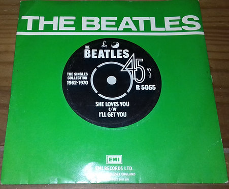 """The Beatles - She Loves You c/w I'll Get You (7"""", Single, RE) (Parlophone, Apple"""
