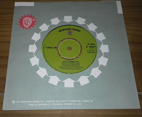 "Curved Air - Back Street Luv (7"", Single, Pus) (Warner Bros. Records)"